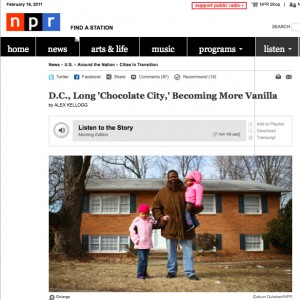 The Morning Edition story about Anacostia which riled some locals.